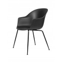 BAT stolička, conic base, black/black