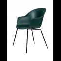 BAT stolička, conic base, black/dark green