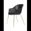BAT stolička, conic base, brass/black