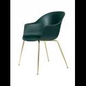 BAT stolička, conic base, brass/dark green
