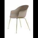 BAT stolička, conic base, brass/new beige