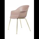 BAT stolička, conic base, brass/sweet pink