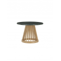 FAN TABLE D600 natural base green marble