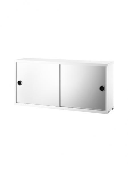 CABINET so zrkadlovými dverami, 78x20 cm