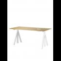 WORK DESK stôl, výškovo nastaviteľný, 160 cm, oak