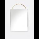 zrkadlo ADORN FACE brass
