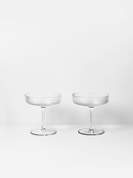 RIPPLE CHAMPAGNE set of 2 pcs poháre