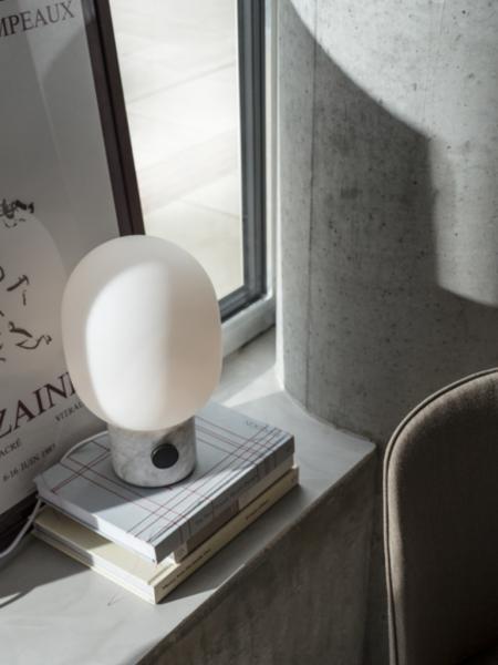 JWDA TABLE LAMP Carrara marble stolová lampa